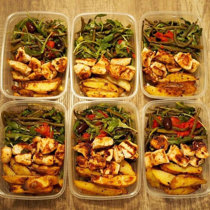 A photo posted by Meal Prep Society (@mealprepsociety) on Jan 24, 2016     at 12:26pm PST  A mouth-watering, must-try chicken dish from @banoon_01  Ingredients:      * Roasted potato wedges     * marinated chicken souvlaki     * roasted green beans     * garlic roasted tomatoes     * olives and arugula     * tatziki sauce on the side (not shown).  Recipe:      * Marinate the chicken chunks in olive oil, lemon juice, fresh and dry       oregano, pepper, and Greek seasoning and then grille...