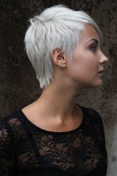 Penteados Fios de cabelo muito curto: Mulheres Cortes de cabelo