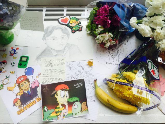 Satoru Iwata Memorial At The Nintendo World Store In NYC. July 15 2015