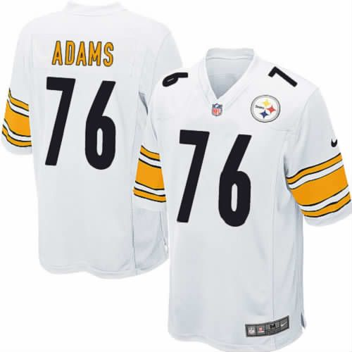 Youth Mike Adams Pittsburgh Steelers Jersey #76 White Limited Nike NFL Jersey Sale