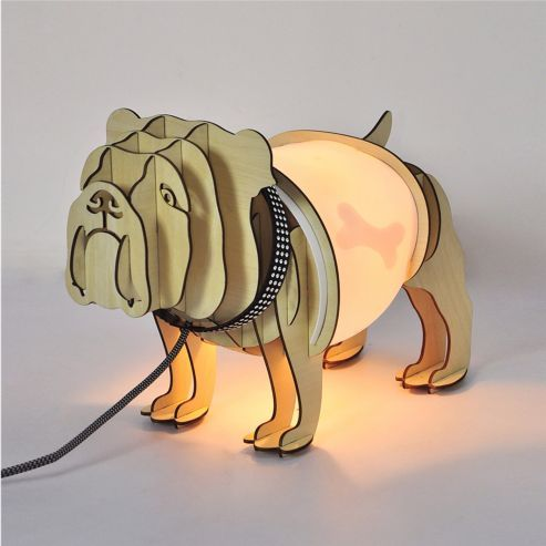 Designer Style Rufus the Dog 3D Table Lamp