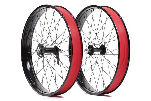 State Bicycle Co. Fat Bike Single Speed Wheelset Front/Rear Black