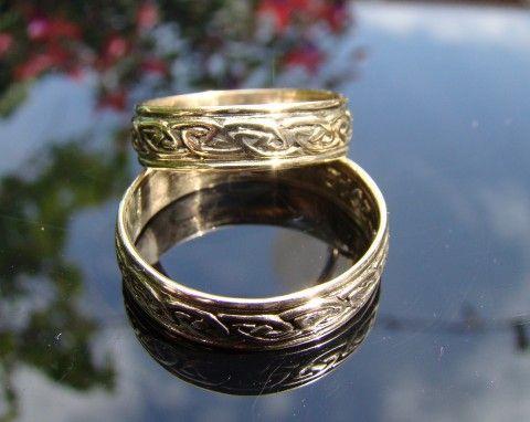 Gouden keltische trouwringen