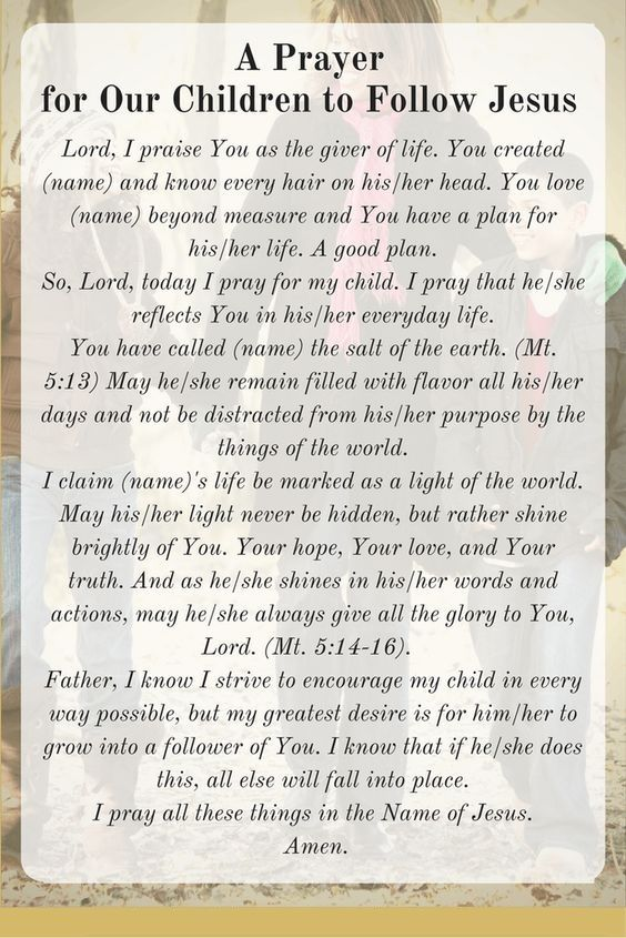 A Prayer for Our Children to Follow Jesus