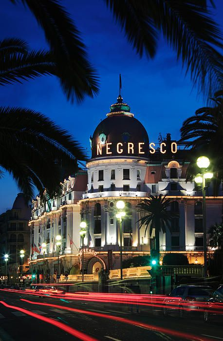 Hotel Negresco on Promenade des Anglais in Nice, France
