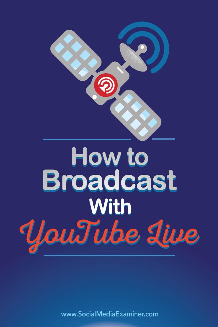 Have you heard of YouTube Live?  YouTube Live will stream video from your webcam or desktop, letting you host webinars, broadcast vlogs, and more in real time.  In this article, you'll discover how to broadcast video using YouTube Live. Via @smexaminer.