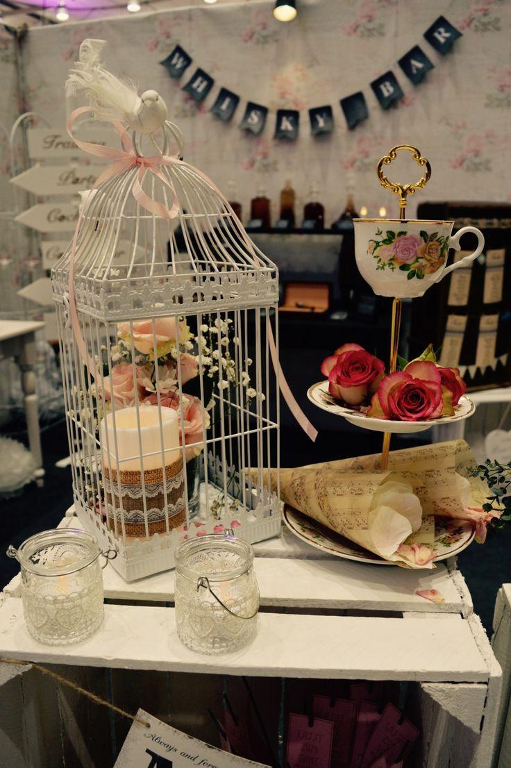 Vintage Dekoration für die Hochzeit - Vogelkäfig Hochzeit - Teatime ...