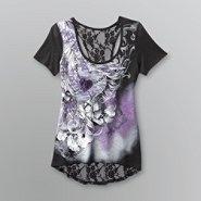 Bongo Junior's Lace Back T-Shirt - Heart at Kmart.com