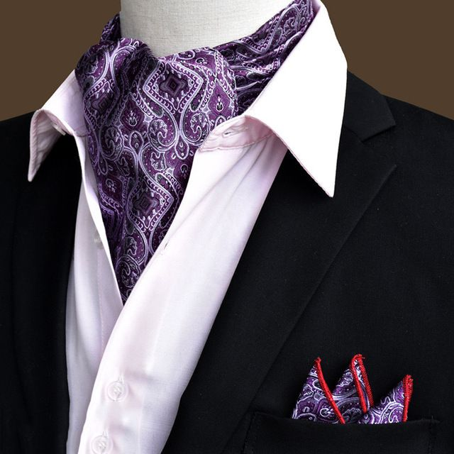 2017 Caliente Traje de Corbata Ascot de Los Hombres Bufanda de Paisley Corbata Gravata Jacquard Bufanda Corbata Personalizada Boda Chal Cortabata Hombre