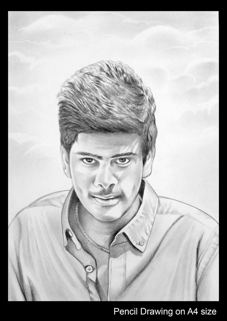 Pencil sketch drawing portrait in hyderabad artnvn telangana india