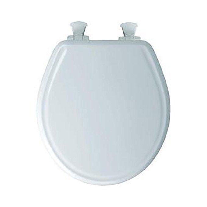 Bemis 600e3 346 Adjustable Statite Round Front Toilet Seat With