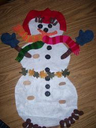 "Felt Board from Making Learning Fun.  Can be used with the book ""The First Day of Winter"" by Denise Fleming."