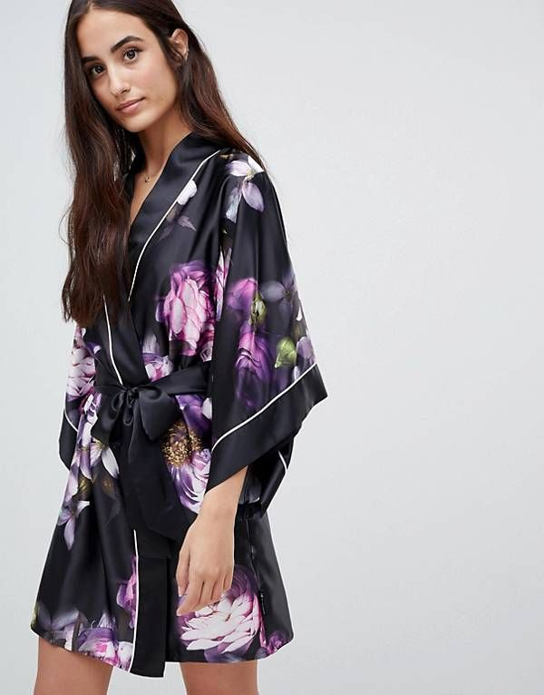 6690078dc6592 B By Ted Baker Sunlit Floral Kimono