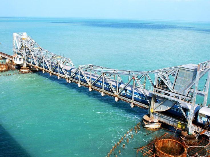 Pamban Bridge  http://www.hikeezee.com/explore/destinations/pamban-bridge-2593    #longestbridge #tamilnadu