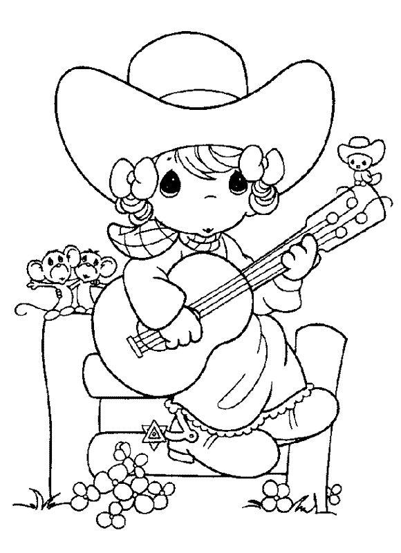 precious moments cowboy coloring pages - photo#10