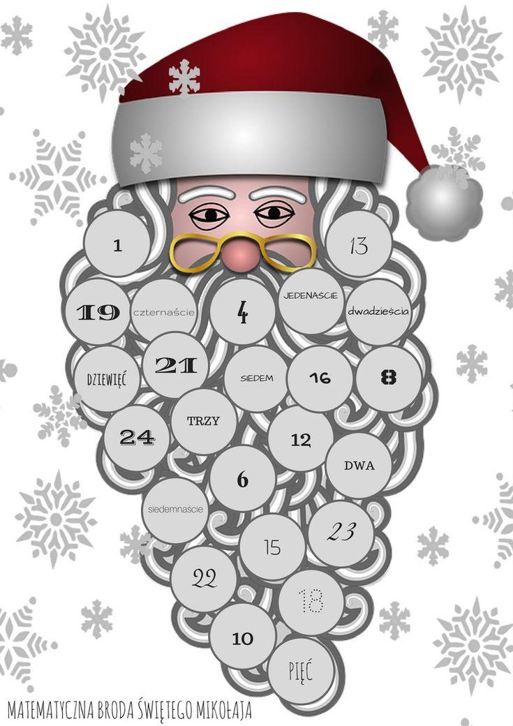 Pomysł podpatrzony kilka lat temu w Szkole Podstawowej nr 69 w Gdańsku. W klasie pierwszej, gdzie zawsze warto powtarzać liczby każde dziecko dostało Mikołaja z brodą składającą się z 24 elementów.…