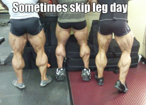 When your calf starts looking like a nut sack...