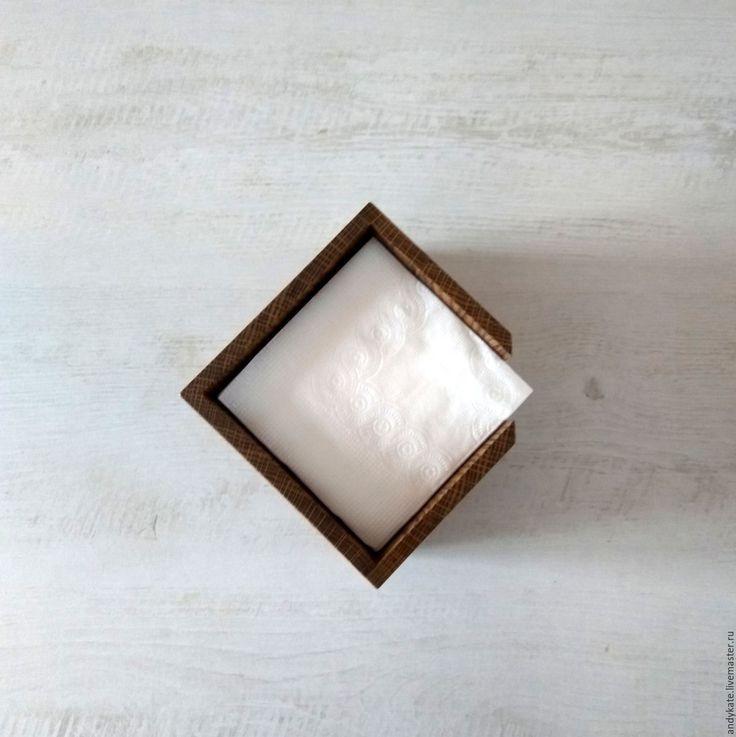 Купить Салфетница из дуба (145х145х110мм) - деревянные заготовки, кухонный интерьер, заготовки из дерева, салфетница