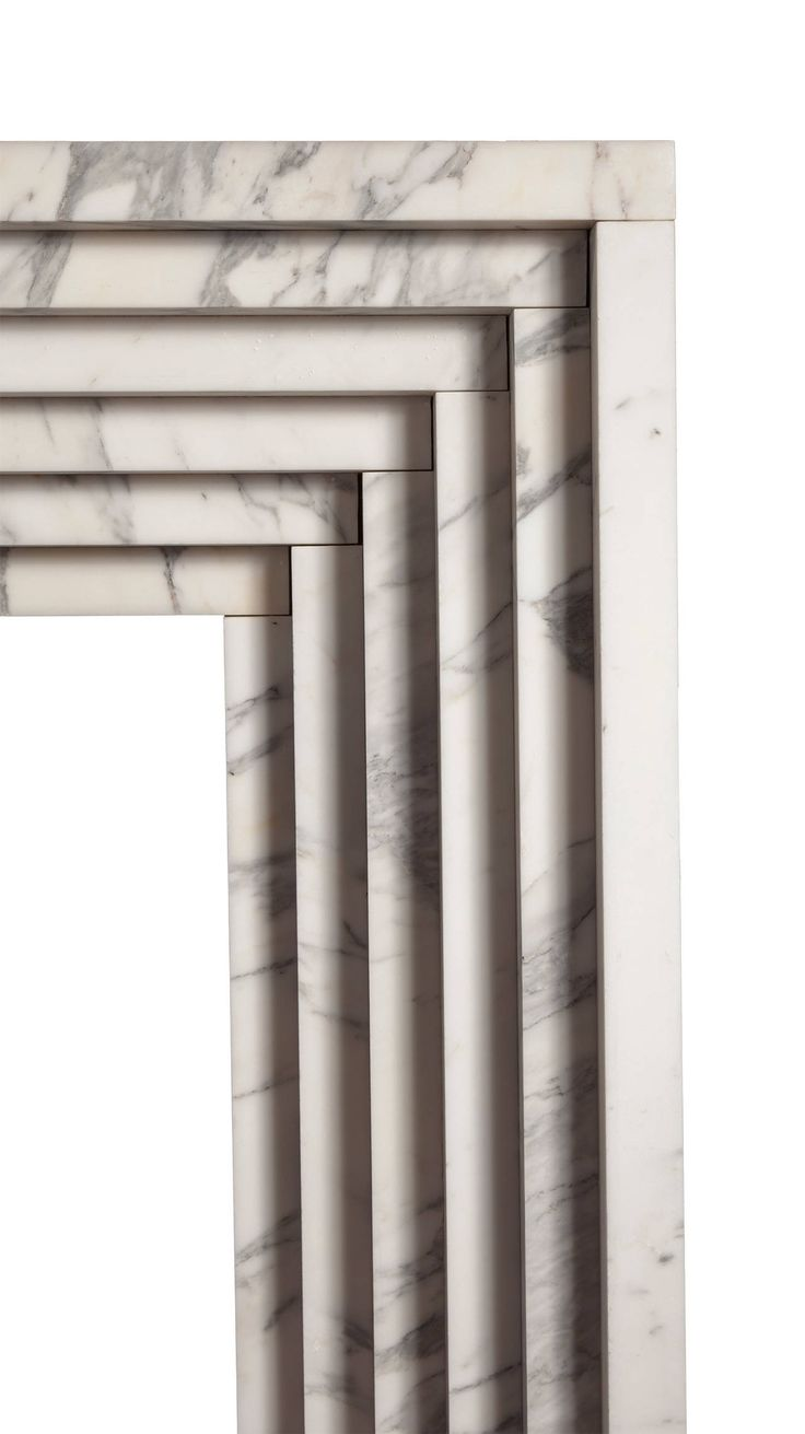 Reproduction Art Deco Marble Fireplace | From a unique collection of antique and modern fireplaces and mantels at https://www.1stdibs.com/furniture/building-garden/fireplaces-mantels/