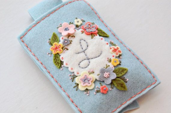 KIT   Cell Phone or Gadget Cover Embroidery by FeltOnTheFly, $15.25