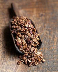 This delicious granola is made with just six ingredients; rolled oats, honey, chopped pecans, cinnamon, salt and walnut oil, which adds an extra-nutty flavor.   Slideshow: Granola Recipes