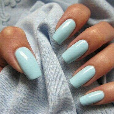 Light blue manicure