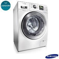 Lavadora de Roupas Samsung 10,1 kg Seine Branca com 14 Programas de Lavagem e Eco Bubble - WF106U4SAWQ