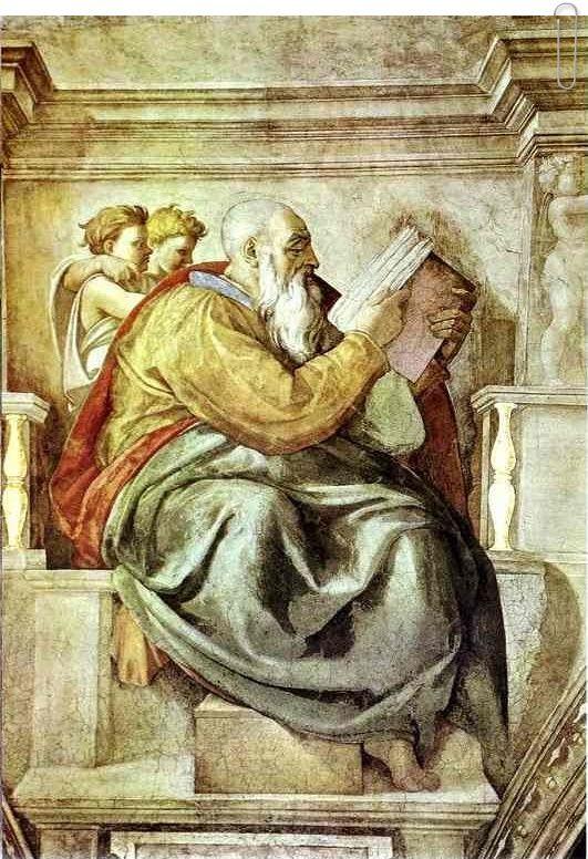 The Prophet Zechariah by Michelangelo
