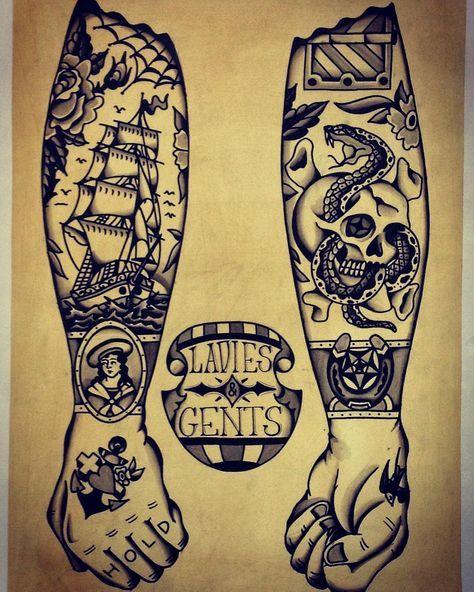 Traditional tattoo design