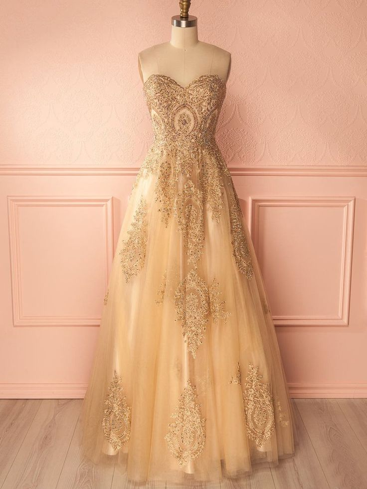 Best 25+ Gold prom dresses ideas on Pinterest | Champagne ...