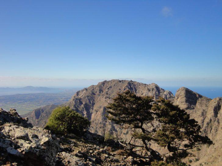 Le mont Dikeos, plus haut sommet de Kos