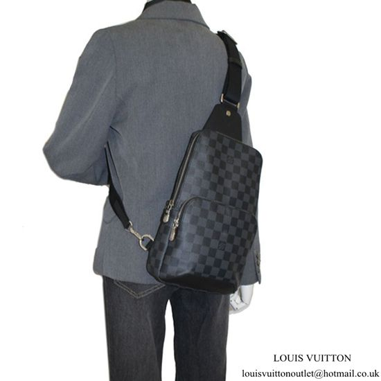 6f57b865bd5f Louis Vuitton N41719 Avenue Sling Bag Damier Graphite Canvas Louis Vuitton  Mens Bag