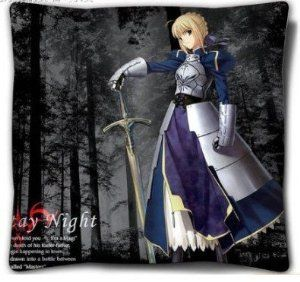 Japanese Anime Double-sided Fate Pillow/cushion-saber by Victoria's Deco. $19.99. The pillow will be shipped out by Register Mail, Email us if you need Express Shipping.. Inner Material:made of memory fabric,with high quality. The pictures are on the two sides of the pillow.please make sure you buy it from Victoria's Deco. Material: polyester peach skin (FACE). Size: 15.7 inches x 15.7 inches. This is a very creative gift for Fate fans.. Save 43%!