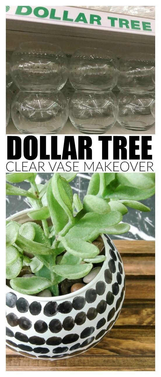 Easy Black and White Dollar Tree Succulent vase