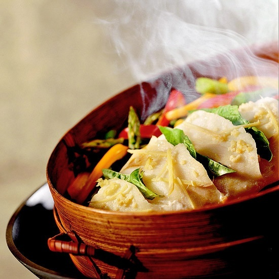 Full Steam Ahead Fish - Steaming is a very healthy way to cook fish. The method retains ingredients' nutrients, and calories from fat are minimal since there's no need to use oil.