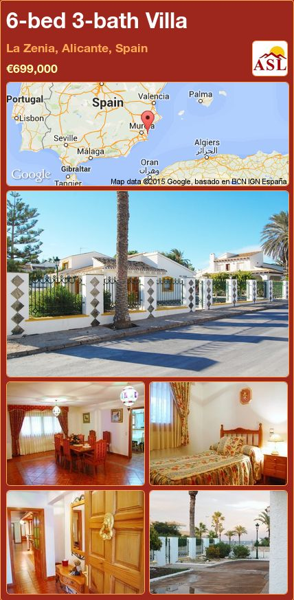 6-bed 3-bath Villa in La Zenia, Alicante, Spain ►€699,000 #PropertyForSaleInSpain