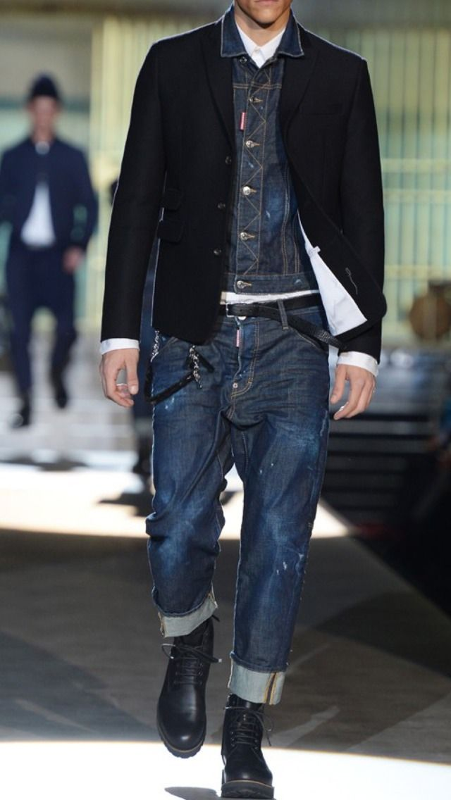 thin belt, big pants   love it