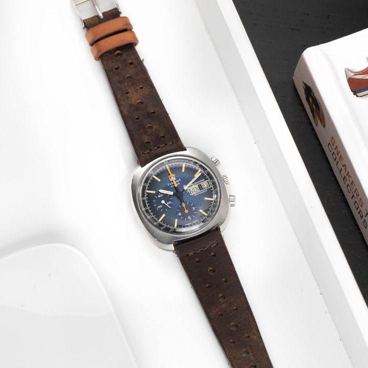 Tissot Navigator Blue Vintage Chronograph 45505
