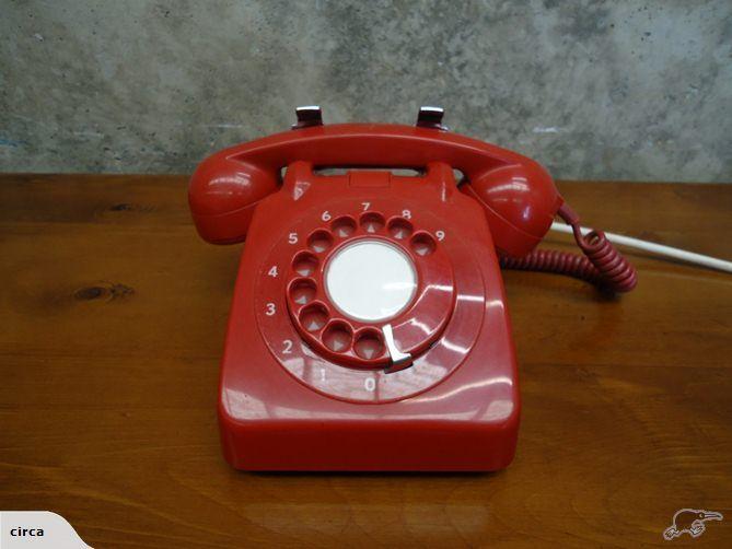 Retro Red Rotary Dial Telephone   Trade Me