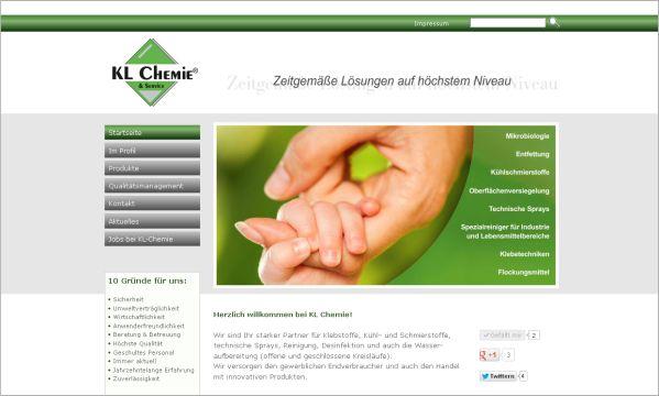 Homepage Chemie  www.kl-chemie.de