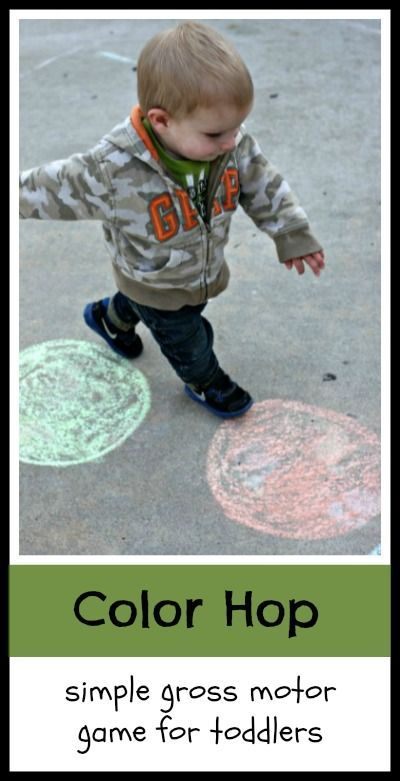 Toddler Color Hop!  A gross motor activity for toddlers to teach color recognition.