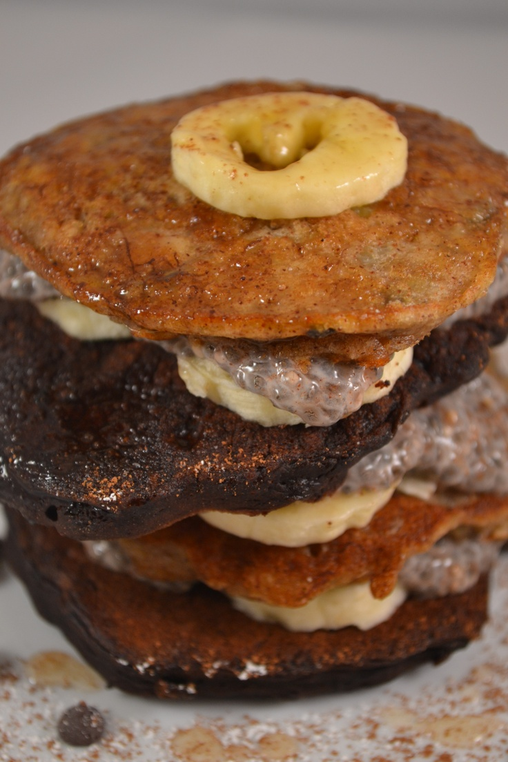 chocolate banana pancakes. | What's Cookin' | Pinterest