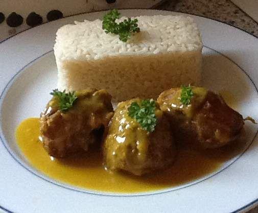 Recette Sot l'y laisse de dinde à la sauce safranée par solmar - recette de la catégorie Viandes