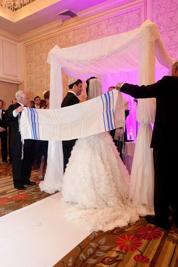 Jewish Wedding Huppah & Tallit Ceremony - mazelmoments.com