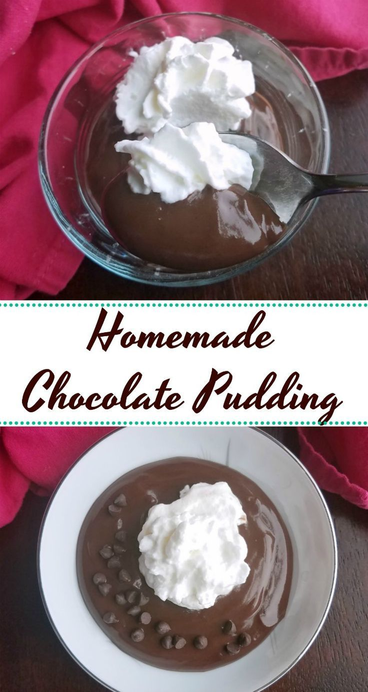 Creamy smooth and luscious, this homemade chocolate pudding is comforting and delicious. It is easy to make with pantry staples and definitely worth the effort! #chocolate #pudding #recipe