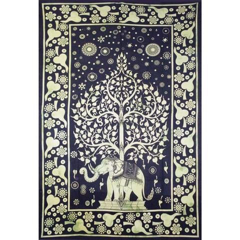 Elephant Tree of Life Tapestry - The Hippie House
