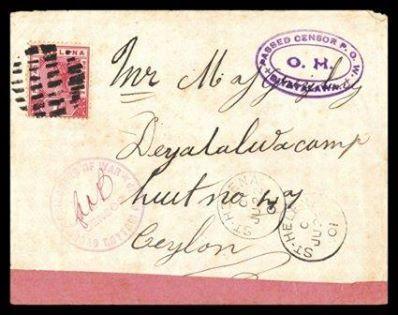 CEYLON Boer War Hut 47