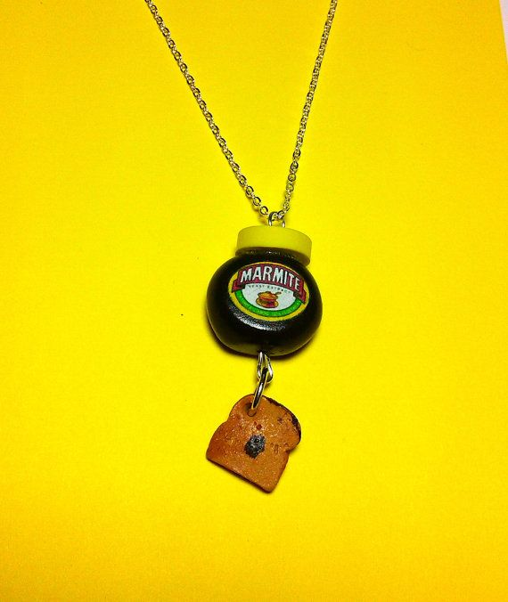 Marmite On Toast Necklace by craftybstards on Etsy, $16.09