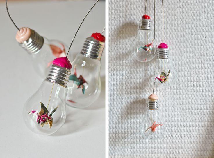 Origami ampoules - carnets parisiens