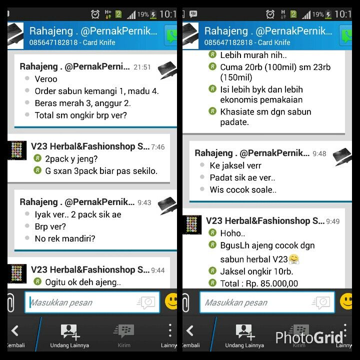 Testi herbal dari customer V23